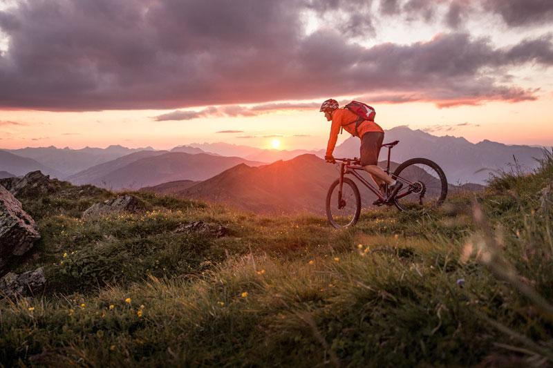 Fahrrad Sonnenuntergang - Fahrrad Graf